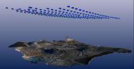 Drone camera location and mine site model