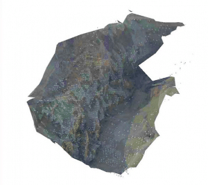 Textured 3d model of mine site