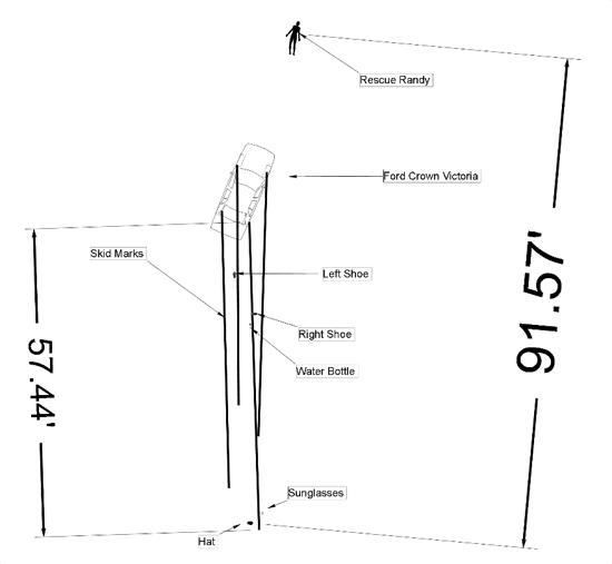 Crash Scene Diagram 1