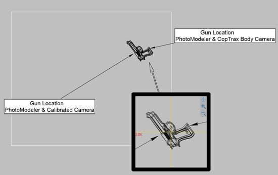 Crime Scene Diagram Gun on Steps