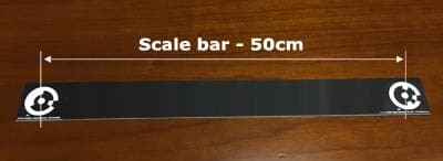Coded target scale bar