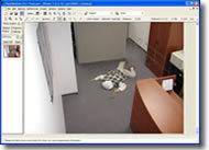 Still from surveillance video of simulated murder