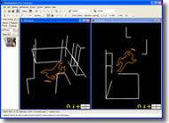 3D views in PhotoModeler of scene diagram