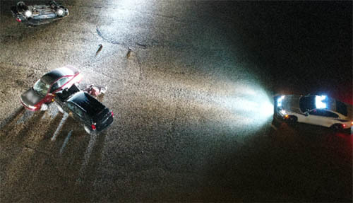 Convergenct photo of Night MVA from drone uav