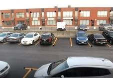 Shot of parking lot from security camea