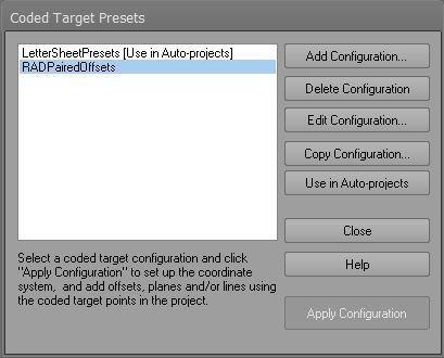 PhotoModeler's Coded Target Presets 2