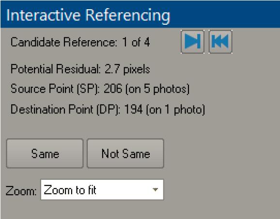 Interactive Referencing Pane
