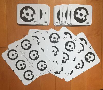 PhotoModeler Letter System Target Cards