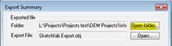 Export summary to access folder