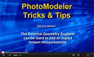 Tip 22 PhotoModeler Video