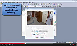 Choosing frames from a video